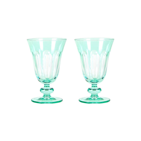 Set of 2 Rialto Menthe (Light Green) Glasses