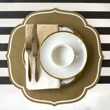 Die-Cut Gold Medallion Placemat Sheets