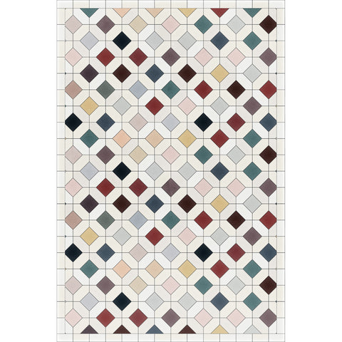 Tile in Color Vinyl Rug