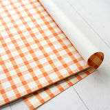 Orange Painted Check Placemat