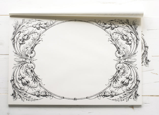 Italian Scroll Paper Placemats