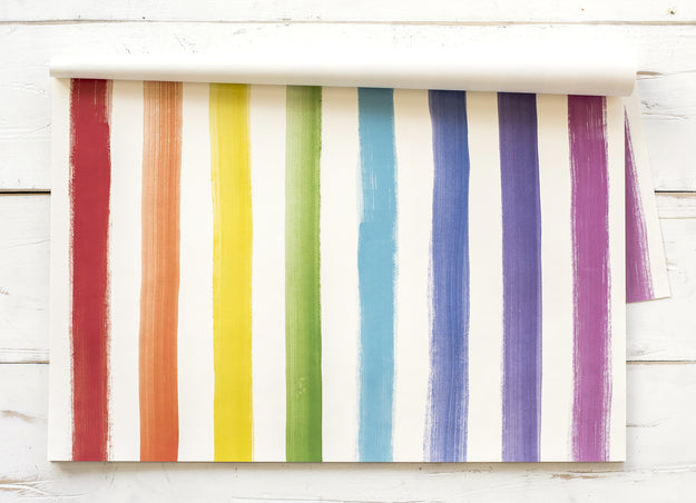 Painted Stripe Paper Placemats