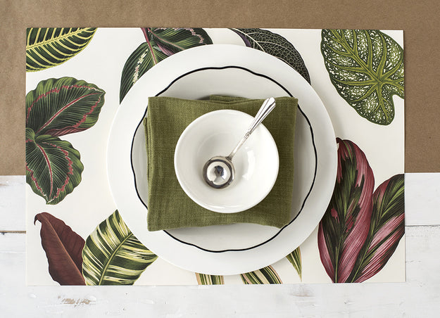 Tropical Leaves Paper Placemats Hester Amp Cook