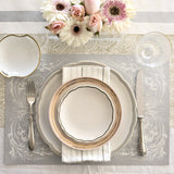 Silver Italian Scroll Paper Placemats
