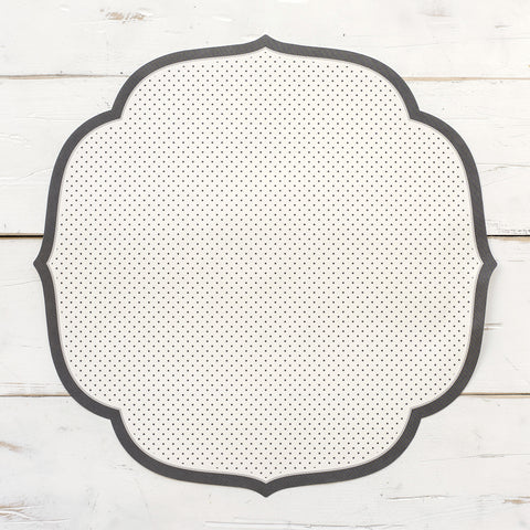 Swiss Dot Medallion Paper Placemats