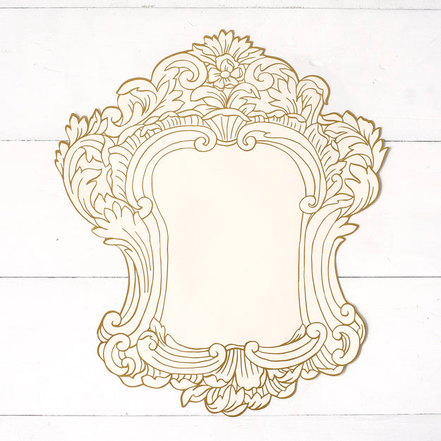 Gilded Frame Die-Cut Paper Placemat