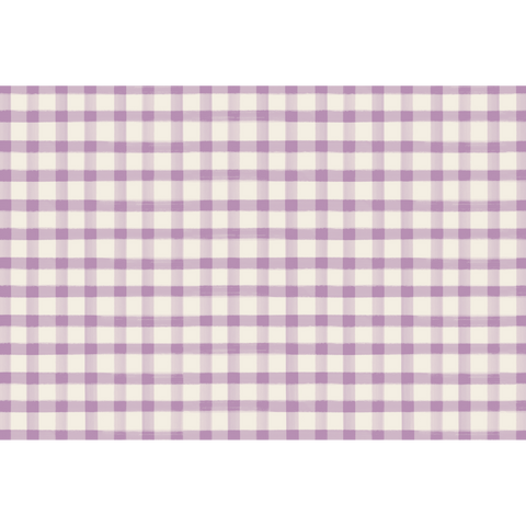 Lilac Painted Check Placemat