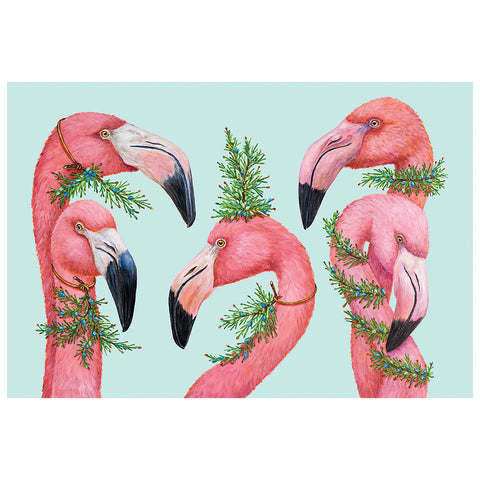 Festive Flamingos Placemat