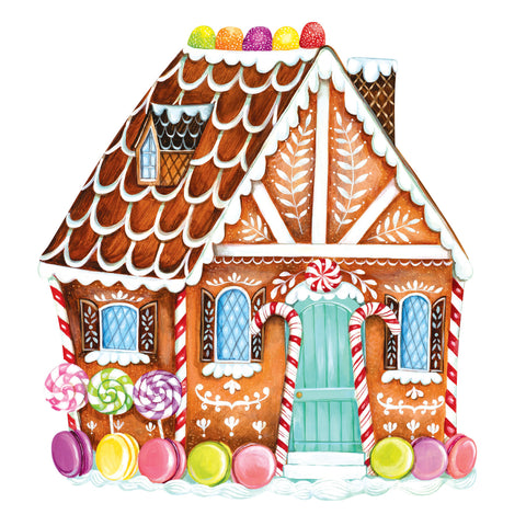 Die-Cut Gingerbread House Placemat