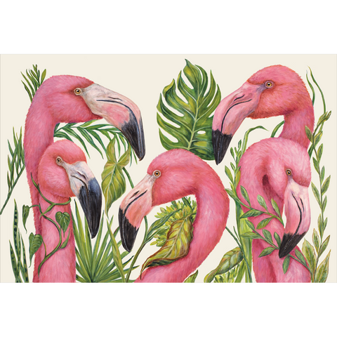 Tropical Flamingos Placemat
