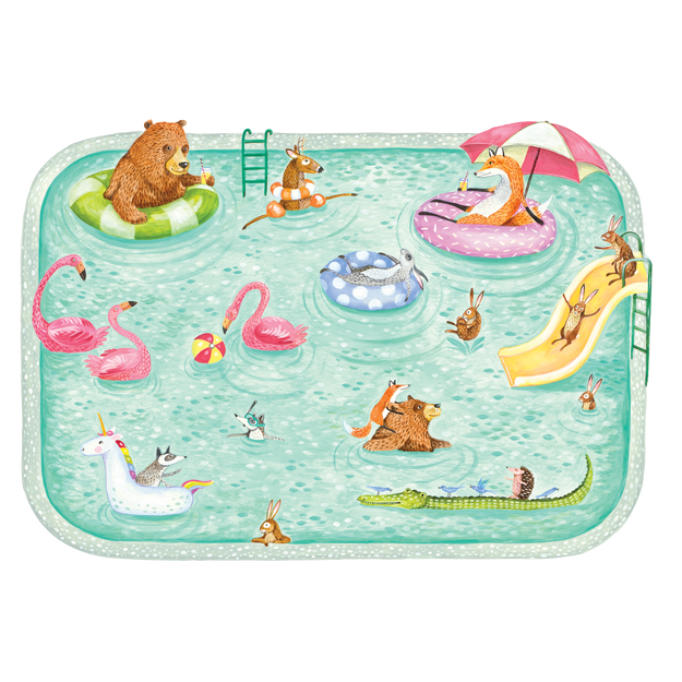 Die-Cut Pool Party Placemat