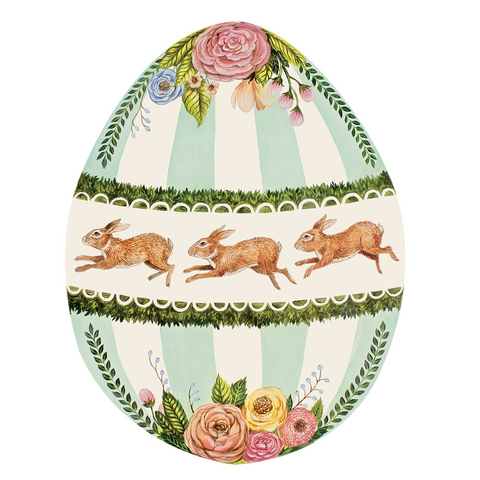 Die Cut Boxwood Bunny Egg Placemat