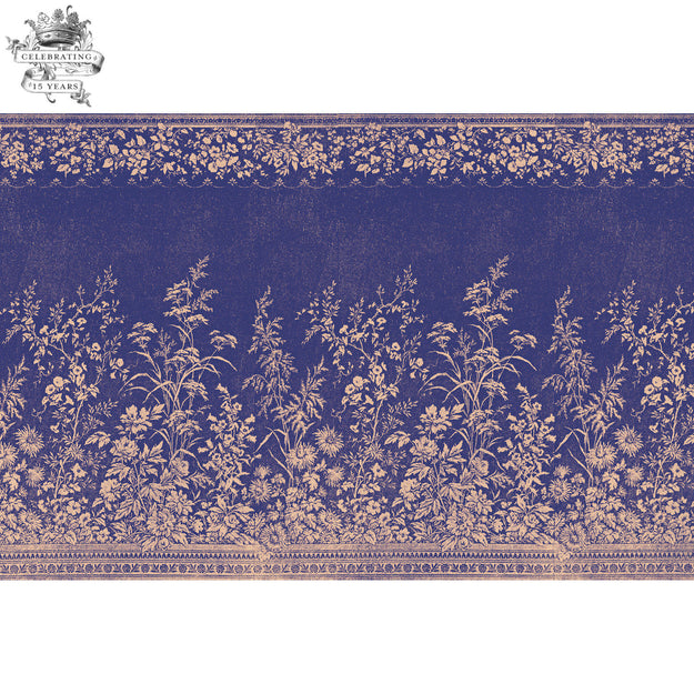 Navy Woven Floral Placemat