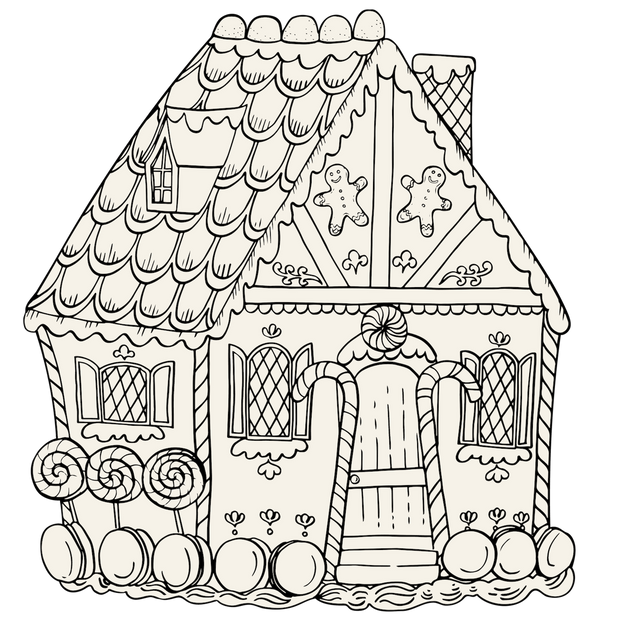 - Die-Cut Gingerbread House Coloring Placemat – Hester & Cook