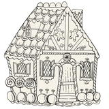 Die-Cut Gingerbread House Coloring Placemat