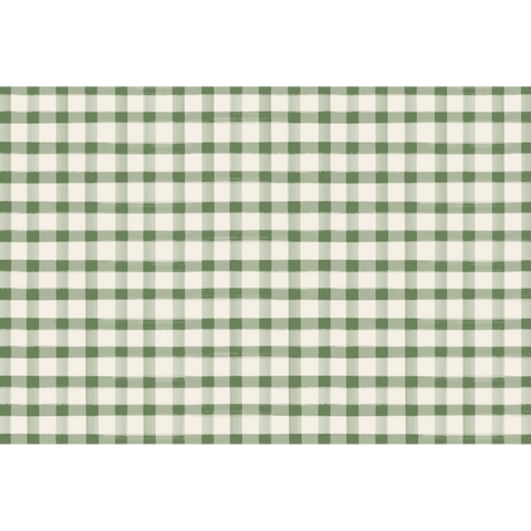 Dark Green Painted Check Placemat