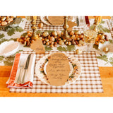 Brown Painted Check Placemat