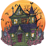 Die-Cut Haunted House Placemat