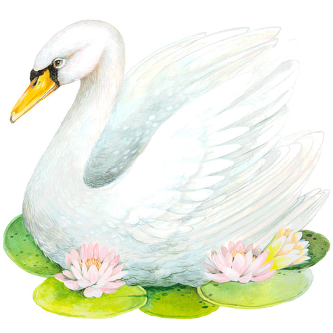 Die-Cut Fabulous Swan Placemat