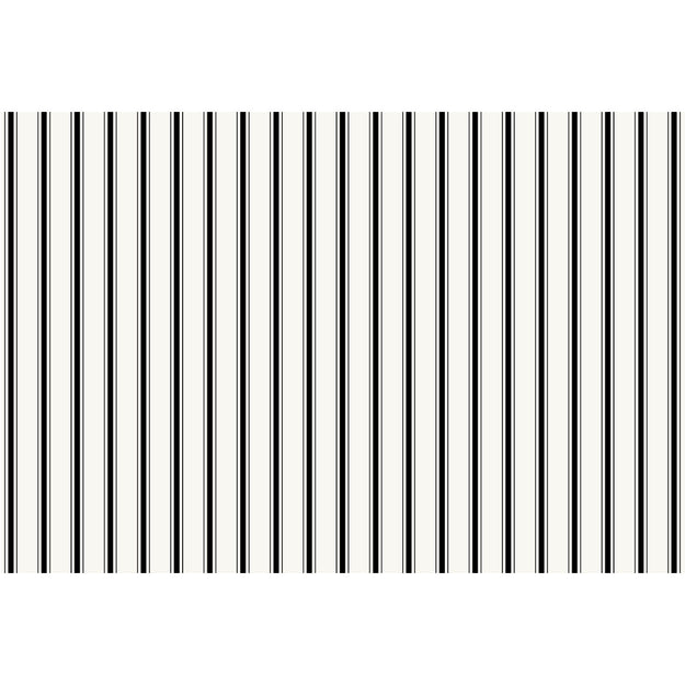Black Ribbon Stripe Placemat