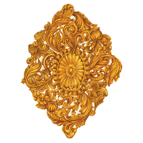 Die-Cut Gold Medallion Placemat