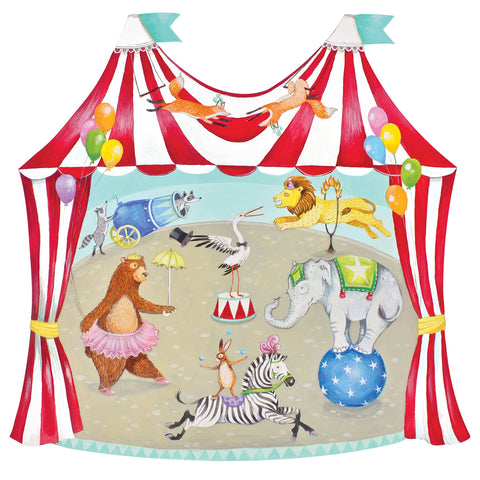 Die-Cut Circus Tent Placemat