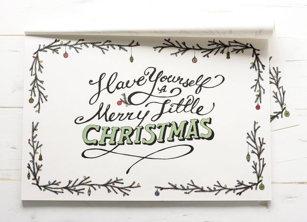 Merry Little Christmas Paper Placemats – Hester & Cook