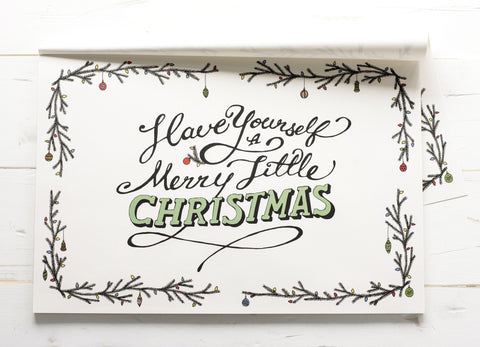 Merry Little Christmas Paper Placemats