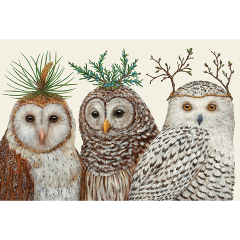 Winter Owls Placemat