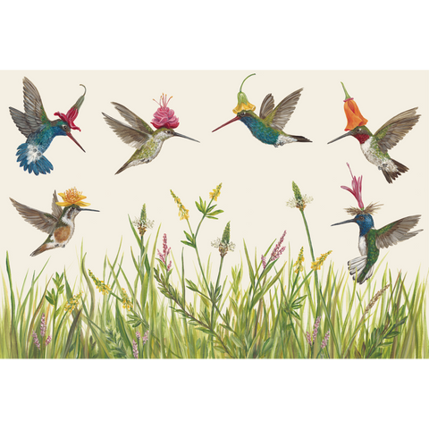 Hummingbirds Paper Placemats