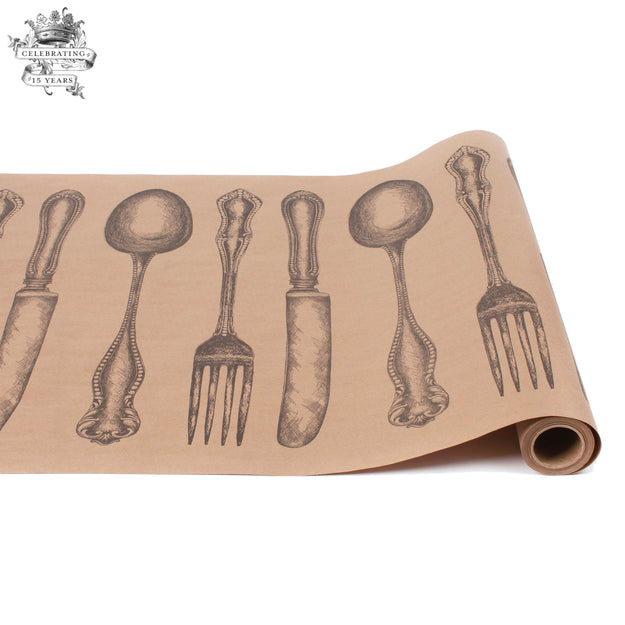 Cutlery on Kraft Runner