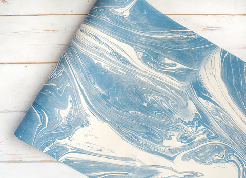 Blue & White Marbled Runner