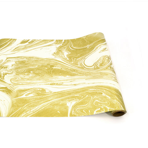 Gold & White Marbled Runner
