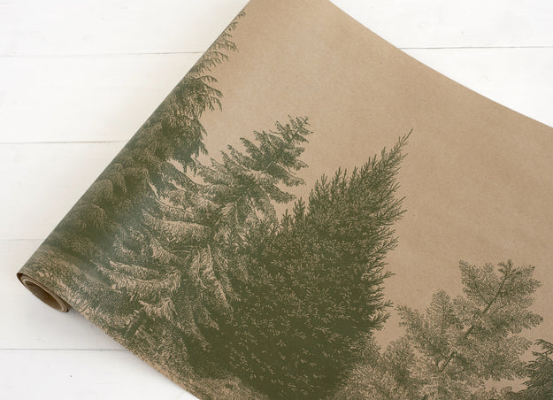 Evergreen Paper Table Runner