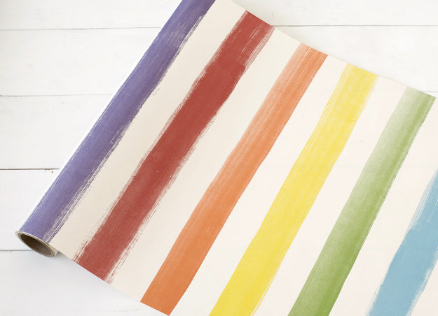 Painted Stripe Paper Table Runner