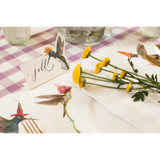 Die Cut Hummingbird Place Card