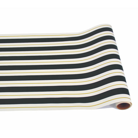 Black & Gold Awning Stripe Runner