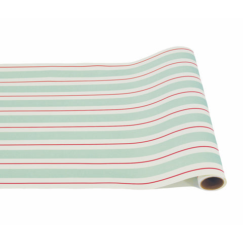 Seafoam & Red Awning Stripe Runner