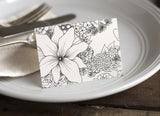 Floral Coloring Place Cards