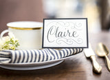 Black Frame Place Cards