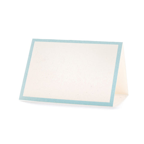 Seafoam Frame Place Cards Tented