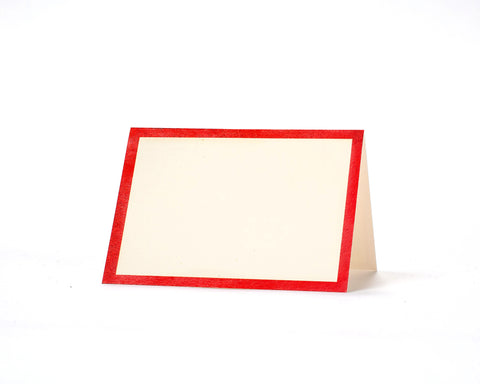 Red Frame Place Card- pack of 12