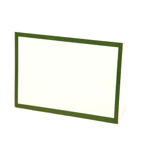 Dark Green Frame Place Card