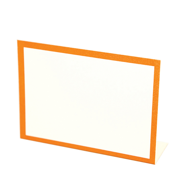 Orange Frame Place Card