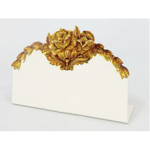 Gold Flora Place Card