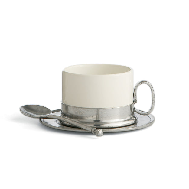 Tuscan Cappuccino Cup & Saucer with Spoon