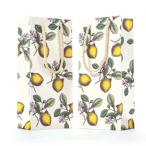 Lemons Wine Bag