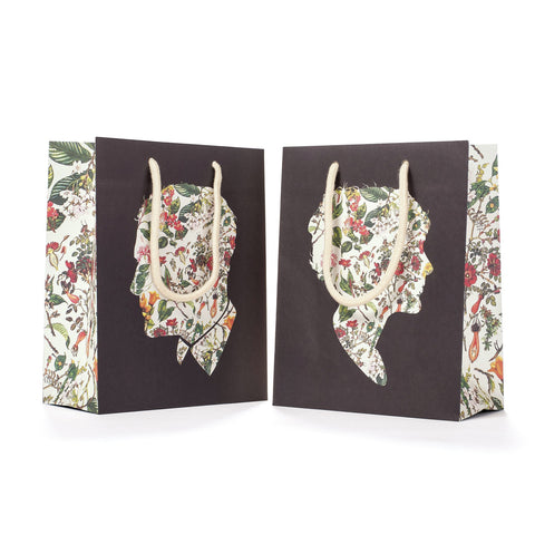 Floral Silhouette Cub Gift Bag