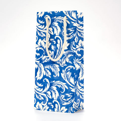 China Blue Acanthus Wine Bag