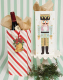 Candy Stripe Wine Bag